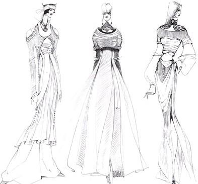 Эскизы женской одежды